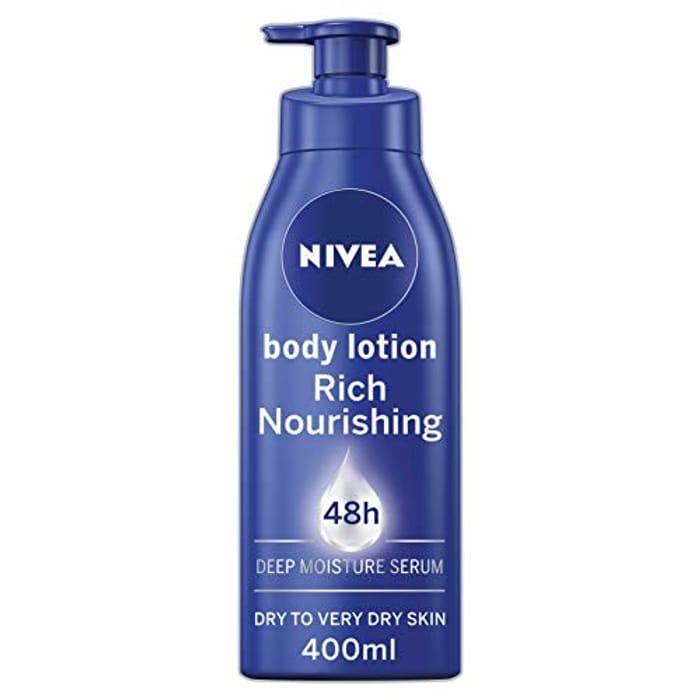 Cheap NIVEA Rich Nourishing Body Lotion (400ml) reduced by £3.01!
