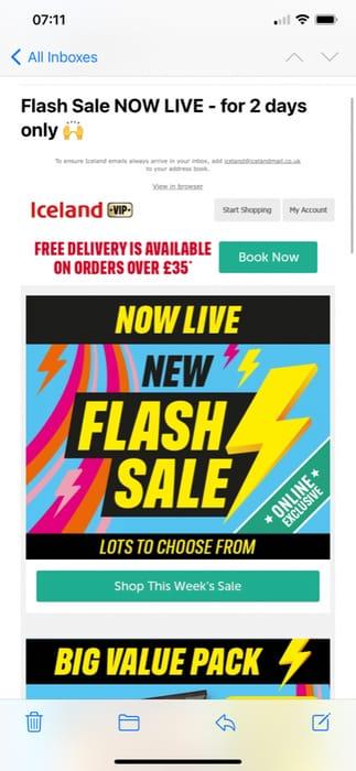 Iceland Flash Sale - Lots of Half Price Items