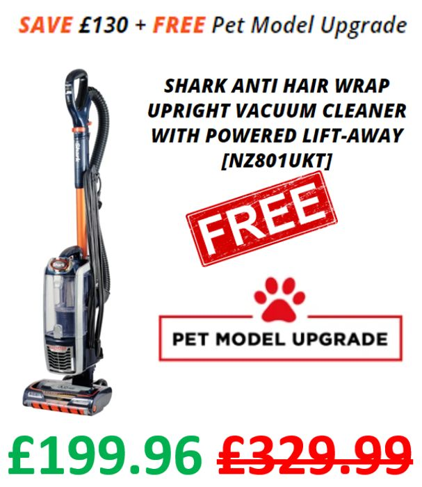 Cheap! Shark Anti Hair Wrap Vacuum, Powered Lift-Away & Free Upgrade