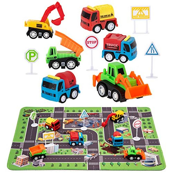 Construction Vehicle Toys - Engineering Vehicles Set - Only £5.60!
