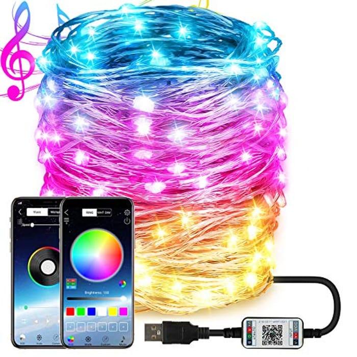 Dcola Fairy Lights 20 Meter String Lights APP Control - Only £7.99!