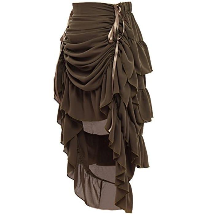 GRACEART Women's Victorian Steampunk Skirt - Only £6!