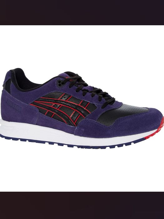 ASICS Blue & Black Suede Trainers
