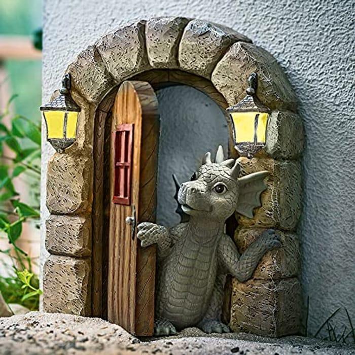 Garden Decorations Dinosaur Sculpture Resin Ornament - Only £11.99!