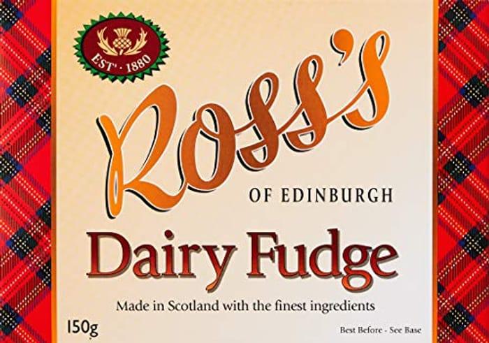Ross's of Edinburgh Dairy Fudge Gift Box, 150 G