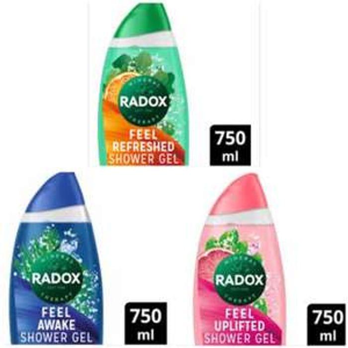Radox Shower Gels 750ml (XXL Bottle) BOGOF 2 for £3.99