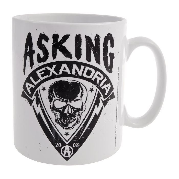 Official Asking Alexandria Skull Shield Mug (White)