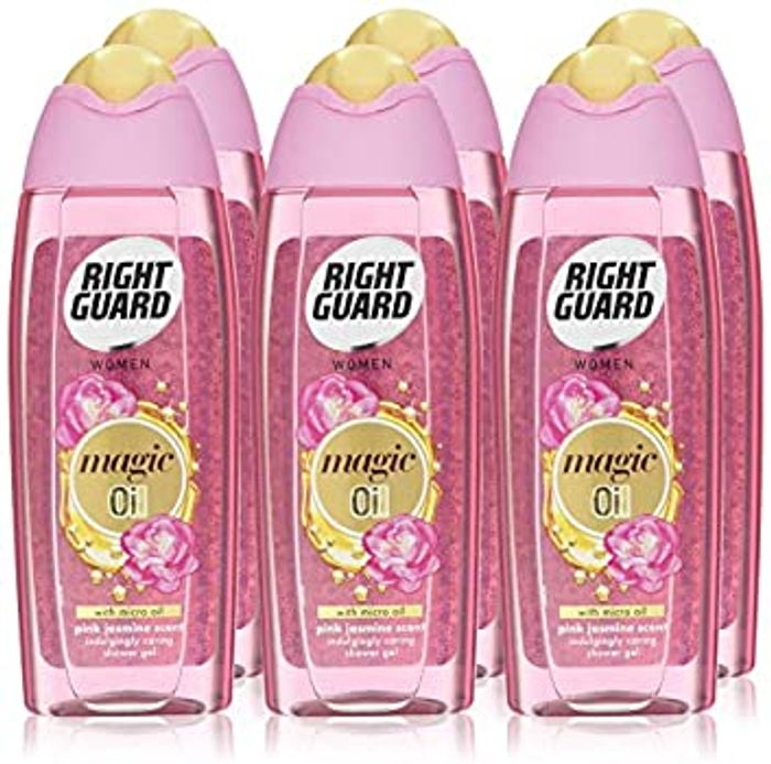 Right Guard Womens Shower Gel, Floral Scent with Magic Micro Oil, 6 X 250 Ml