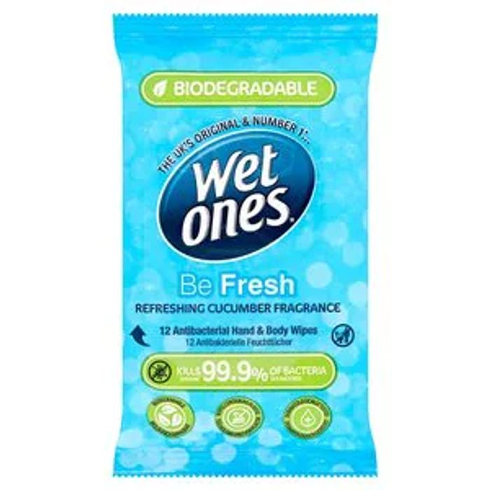 Wet Ones Be Fresh Biodegradable Anti Bac Wipes