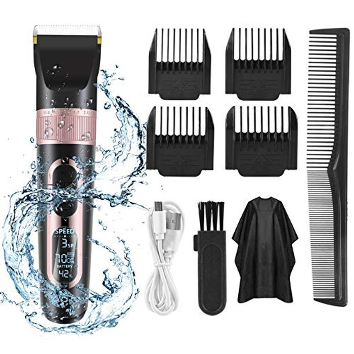 Waterproof Professional Cordless Hair Clippers