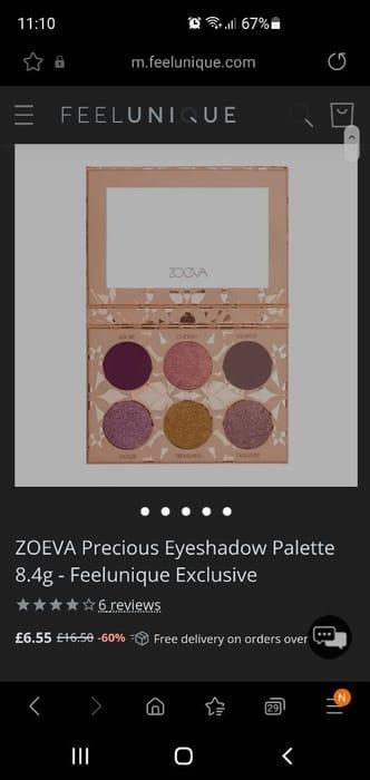 ZOEVA Precious Eyeshadow Palette 8.4g - Feelunique Exclusive