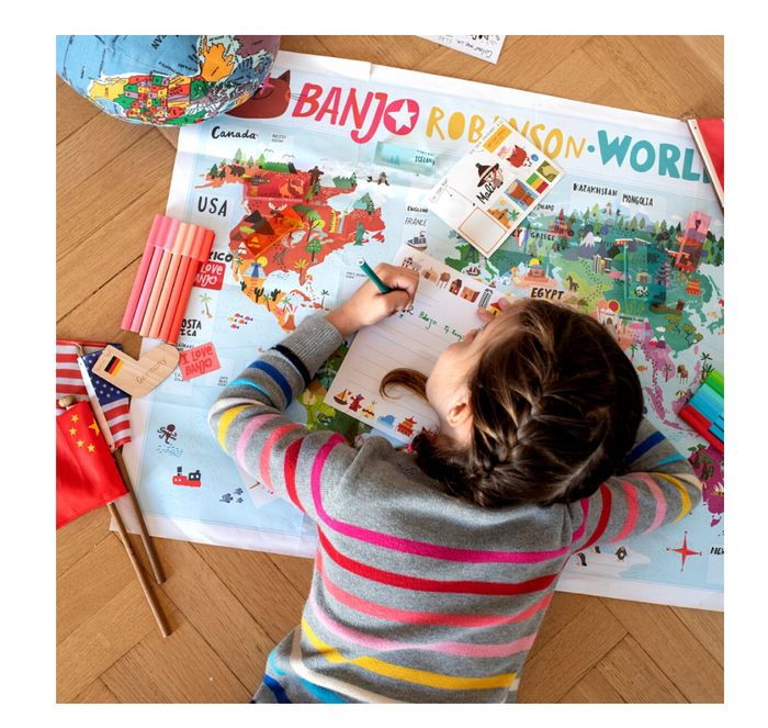 Free World Map Posters Stickers and 2 Personalised Letters
