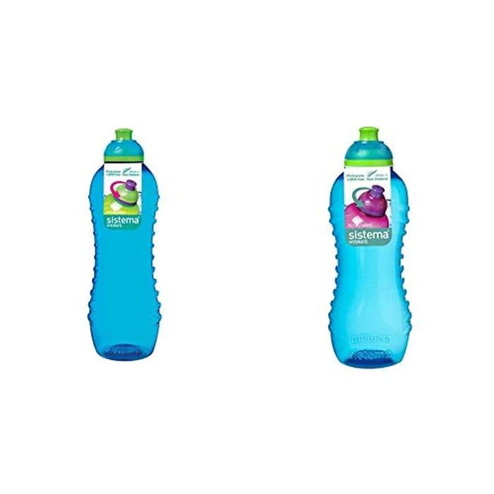 Sistema Twist 'N' Sip Water Bottle, 620 Ml &460 Ml - Blue