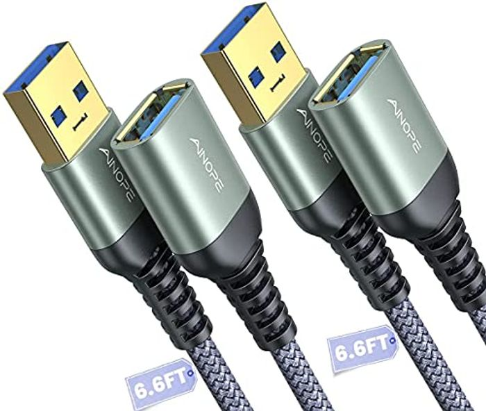 2 Pack 2M AINOPE USB 3.0 Extension Lead Cable Type A