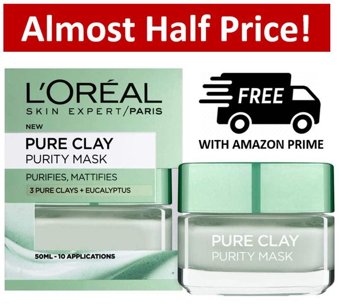 L'Oreal Pure Clay Eucalyptus Face Mask (10 Applications)
