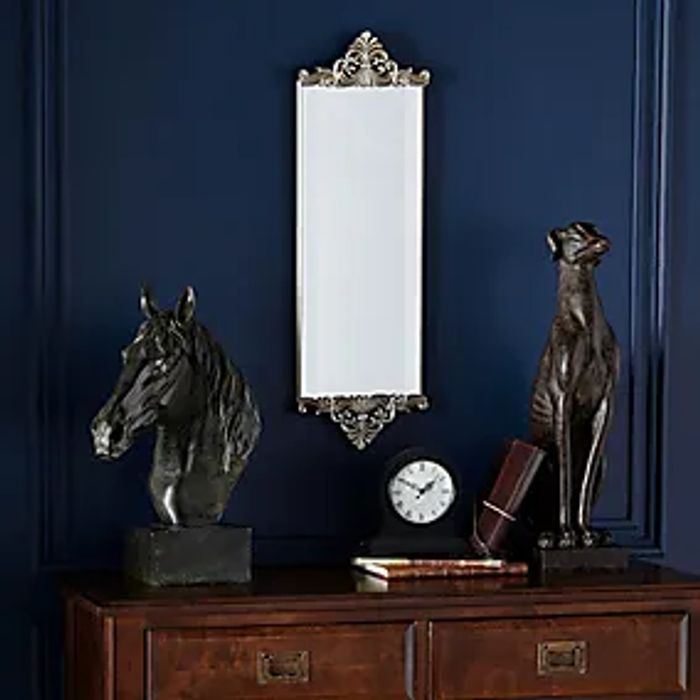 Dunelm Ornate Wall Mirror in silver