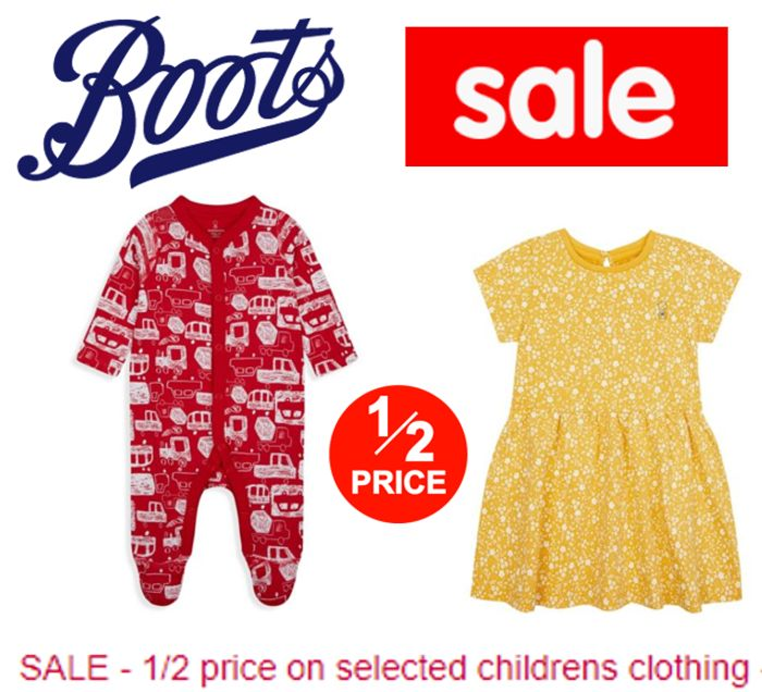 Boots Sale - HALF PRICE KIDS CLOTHES - From £1.50