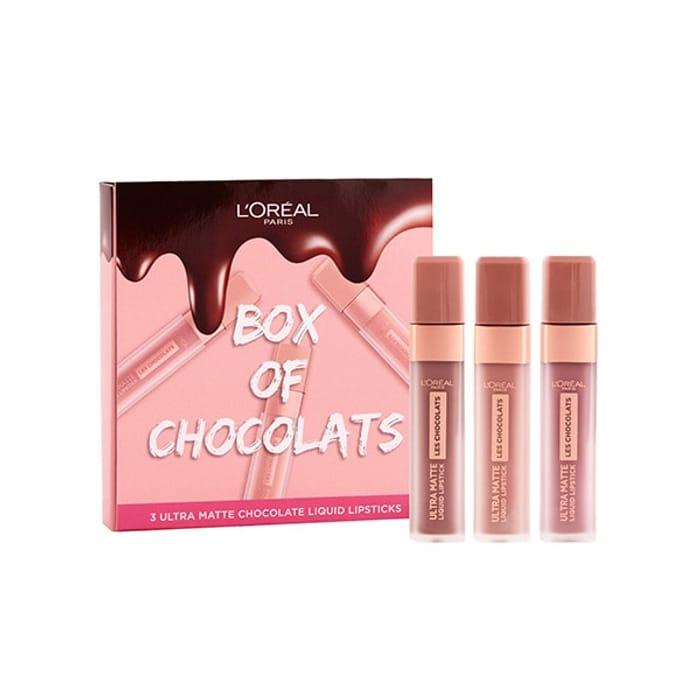 L'Oreal Paris Les Chocolats Liquid Lipsticks Gift Set & 3 for 2