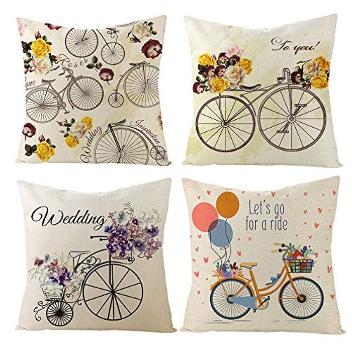 Throw Pillow Covers 4 Pack Bedroom Cushions