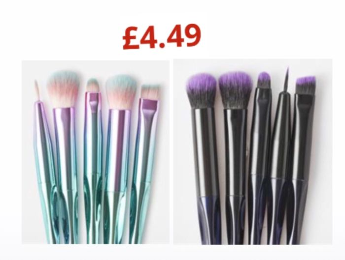 Brushworks HD Precision Eye & Brow Set: Black & Pink,Unicorn