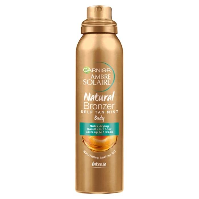 Garnier Ambre Solaire Natural Bronzer Quick Drying Dark Self Tan Body Mist 150ml