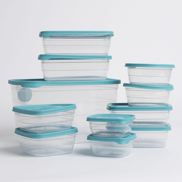 Kitchen Solutions: 11 Piece Food Storage Set - Blue or Grey