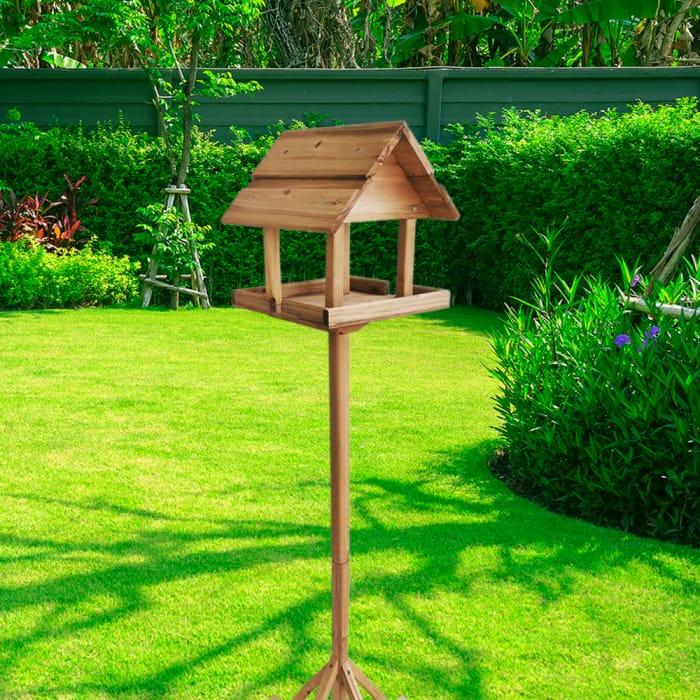 Deluxe Wooden Bird Table