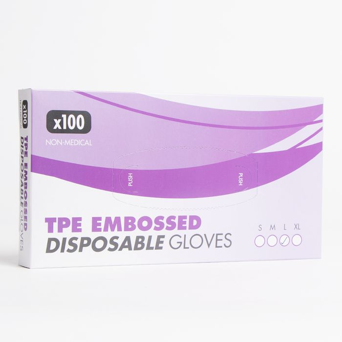 100 Pack Disposable Gloves.