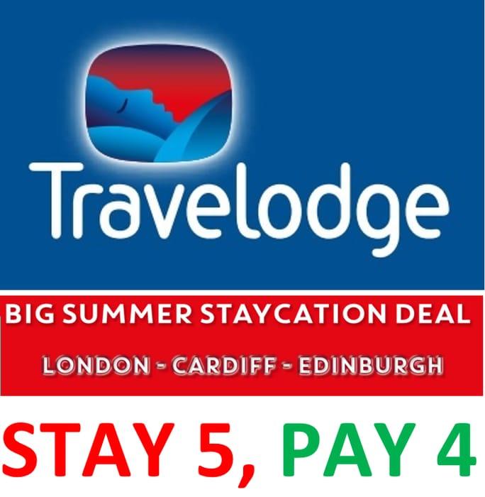 Travelodge - Summer Staycation Deal - LONDON / CARDIFF / EDINBURGH