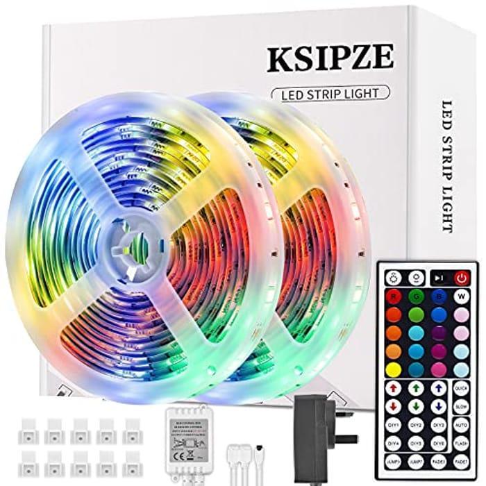 Ksipze 10m RGB LED Light Strips + Remote