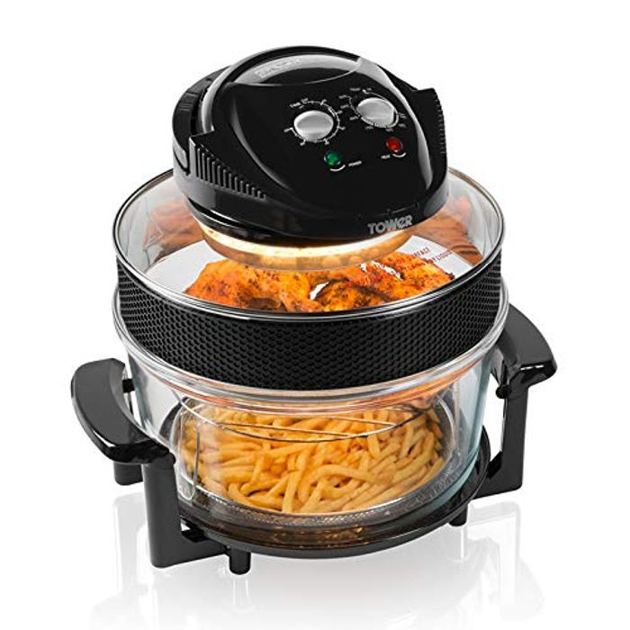 Tower T14001 Health Halogen Low Fat Air Fryer with Removable Glass Bowl