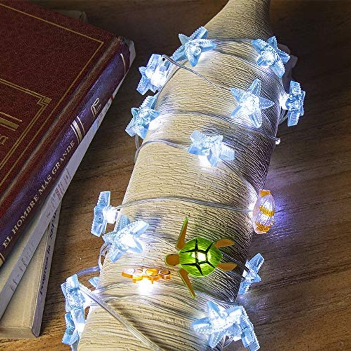 Ocean Theme String Lights - Battery Operated with Music Sync and 12 Modes