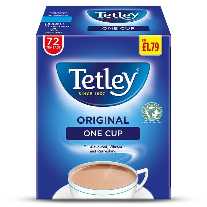 Tetley One Cup 72 Tea Bags