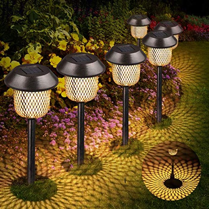 Solar Garden Lights Outdoor, Tencoz LED Solar Path Lights 6x