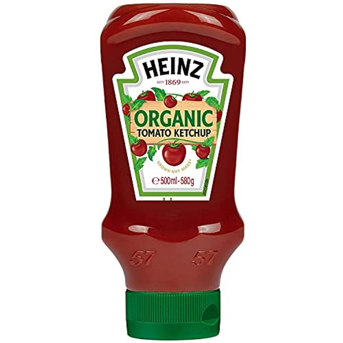 Heinz Organic Tomato Ketchup, 580 G - Only £2!
