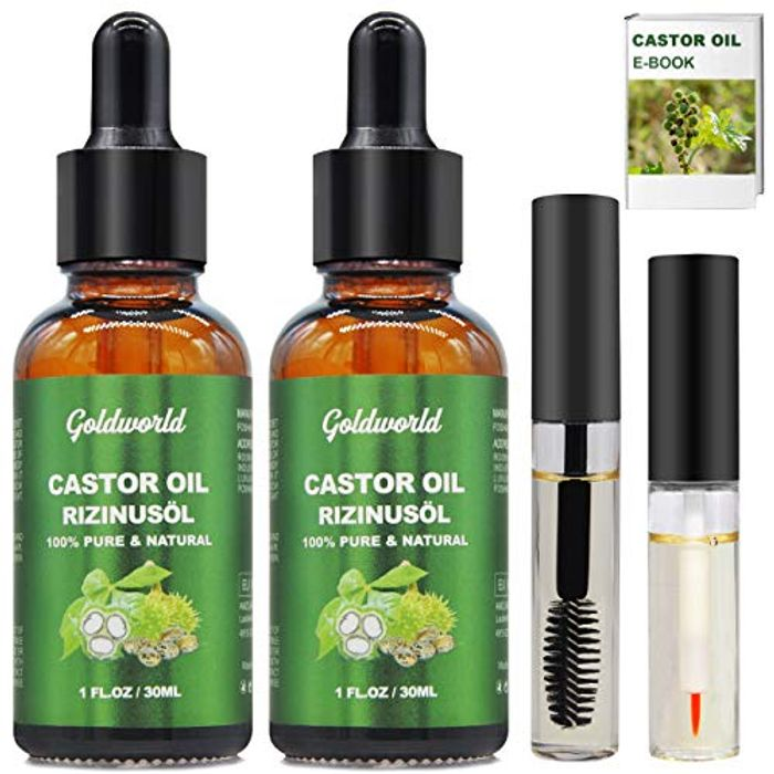 DEAL STACK - 2 X Castor Oil w/Free Lash & Brow Brushes & E-Book + £2 Coupon