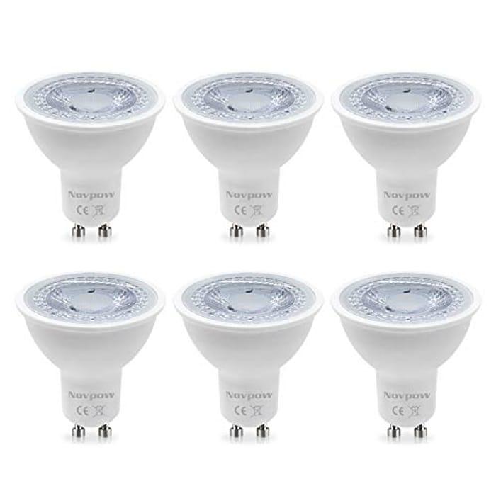 Novpow 6W 450LM Cool White LED Light Bulbs Halogen Lamp, 6 Packs - Only £3.90!