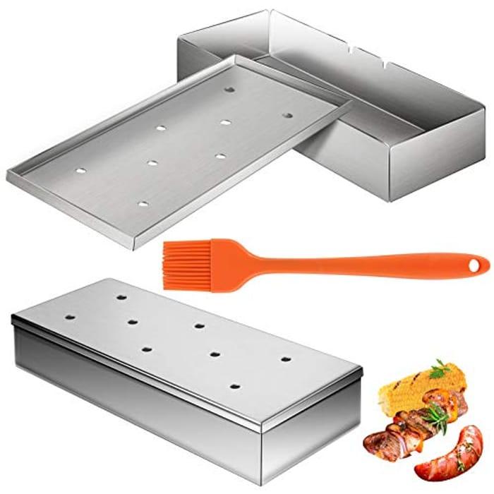 2 Pack Stainless Steel BBQ Smoker Box