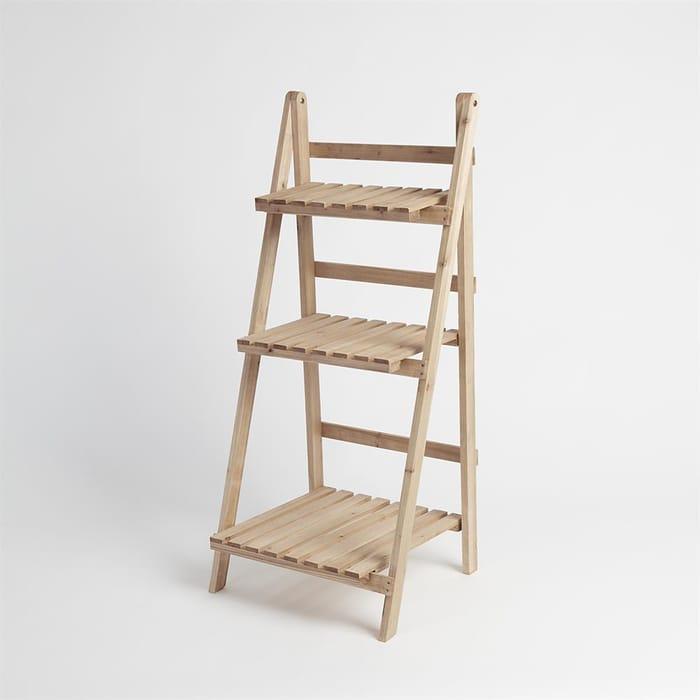 3 Tier Wooden Ladder Planter Stand
