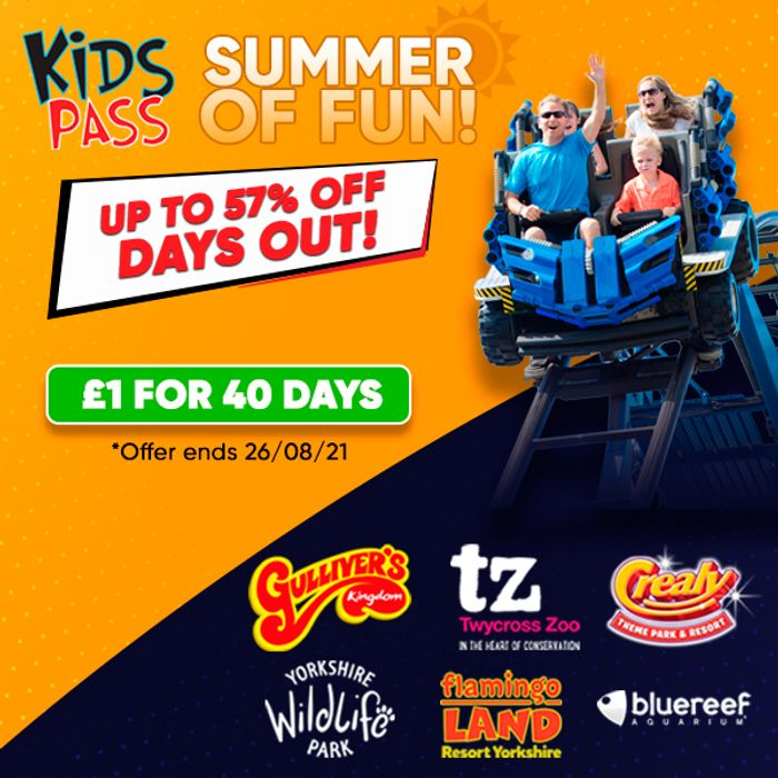 Special Offer! Kids Pass Membership - 40 Days for £1!