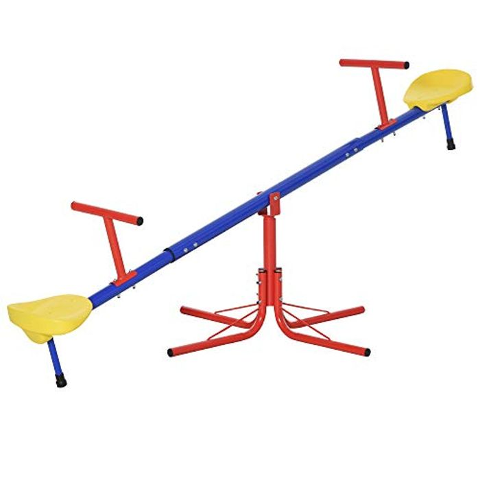 Kids 360 Degree Rotating Metal Seesaw - Only £23.49!