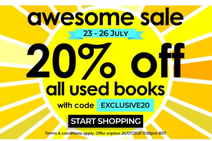 20% off All Used Books
