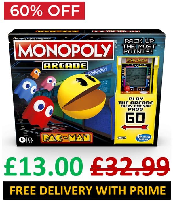 Monopoly Arcade Pac-Man - Board Game