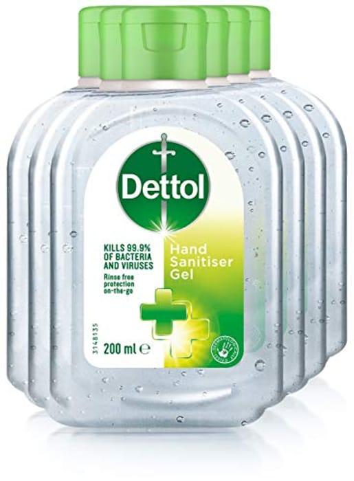 Dettol - Antibacterial Hand Sanitiser Gel - 200ml 6 Pack