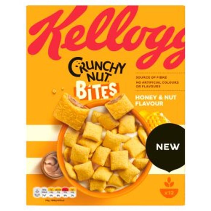 *NEW* Kellogg's Crunchy Nut Bites Honey & Nut 375g