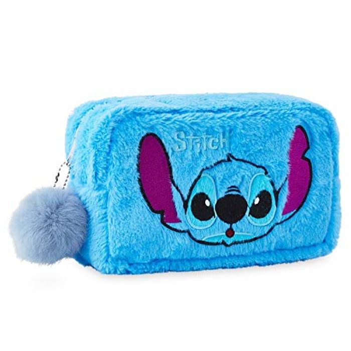 Disney Lilo and Stitch Makeup Bag, Plush Wash Bag for Cosmetics
