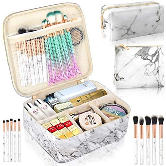 SIHOHAN 3Pcs Make up Bag,Waterproof Cosmetic Bag Set