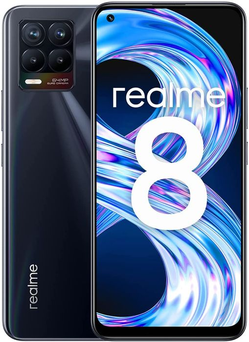*SAVE over £29* Realme 8 UK Punk Black 6GB + 128GB 177 G