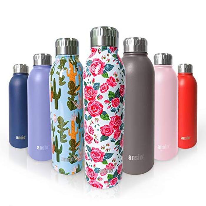 Pattern Pink Water Bottle 500ml.
