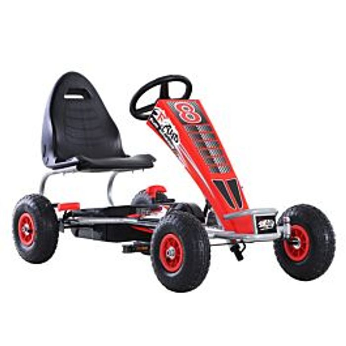 *SAVE £11* Reiten Kids Racing Style Pedal Go Kart with Adjustable Seat